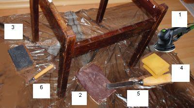 Необходимые для ремонта стула инструменты