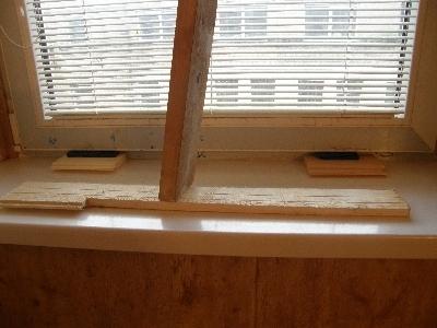 Дополнительные опоры под окном