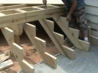 Строительство лестницы на веранду